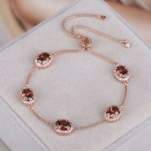 NEW Henri Bendel Rose Gold Crystal Bracelet